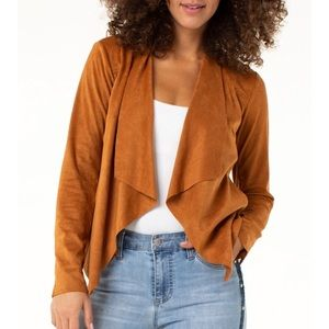 Blank NYC Draped Suede Jacket